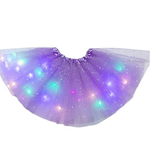 Kuvuiuee Petticoat Frauen-Stern-Pailletten-Ballettröckchen-Rock Leuchten Buntes Tanzparty-Kurzschluss-Neonkleid