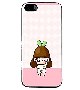 PRINTVISA Cute Cartoon Girl Case Cover for Apple iPhone 5S