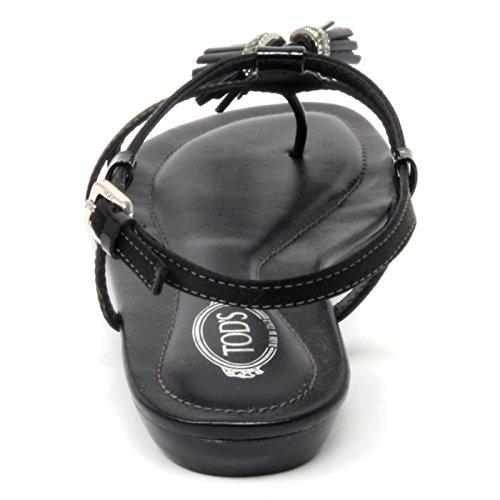 B4534 sandalo donna TOD'S MATIS NAPPINE scarpa nera sandal shoe woman Nero