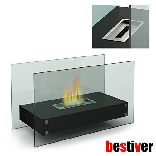 Design Glas-Kamin Tischfeuer mit Bio-Ethanol für Indoor und Outdoor (XL) -