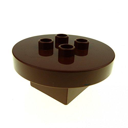 Preisvergleich Produktbild 1 x Lego Duplo Möbel Tisch braun 4 x 4 x 1.5 rund Puppenhaus Küche Wohnzimmer Zirkus Ritter Burg 31066