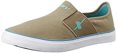 Sparx Men's SC0214G Khaki and Turquoise Blue Sneakers - 6 UK/India (39.33 EU) (SM-214)