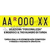 Mappedesign Lettere per Targa ripetitrice - carrelli appendice - rimorchi Personalizzate