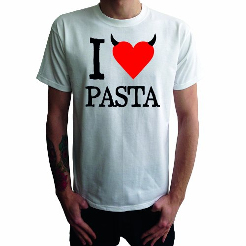 I don't love Pasta Herren T-Shirt Weiß