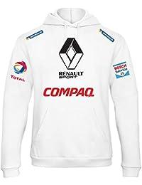 ZETAMARKT Felpa con Cappuccio Uomo Renault Compaq Rally Racing  Personalizzata SCBU028 b998aacea21d