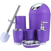 zerone Freefisher – Conjunto de accesorios de baño – Papelera, cepillo de baño, vaso