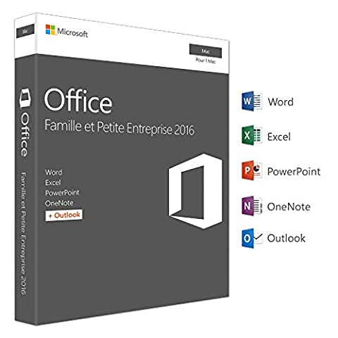 Microsoft Office Famille et Petite Entreprise 2016 | Mac | téléchargement