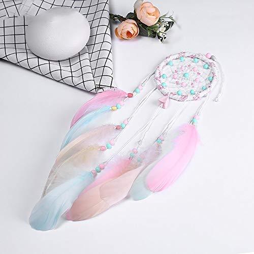 Traumfänger, bunte Traumfänger mit Perlen & Feder handgefertigte traditionelle Dreamcatcher für Schlafzimmer Autos Boho Hochzeit Party gefallen Baby-Dusche-Geschenk