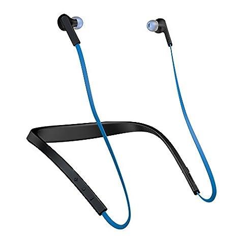 Jabra Halo Smart Wireless Bluetooth Stereo Headset blau   kabelloser In-Ear-Kopfhörer zum Musik hören und telefonieren   geeignet für Handy, Smartphone, Tablet und PC