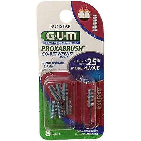 G-U-M Go-Betweens Proxabrush Refills, Moderate, 8 Ct. by BUTLER by Sunstar Americas Inc