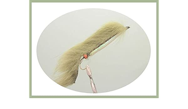 Olive Weed Fishing Fly Size 10 Rear Hook 4 Pack Olive Weed Snake Flies