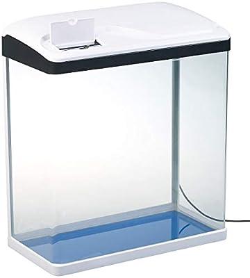 Sweetypet Aquarium-Komplettset: Nano-Aquarium-Komplett-Set mit LED-Beleuchtung, Pumpe & Filter, 40 l (Panorama-Aquarium)