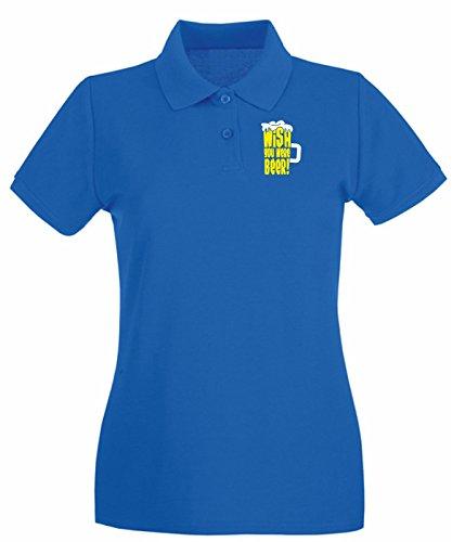 Cotton Island - Polo pour femme BEER0124 what happens at oktoberfest dark tshirt Bleu Royal