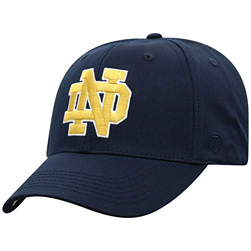 Top of the World Herren Mütze NCAA Fitted Team Icon, Herren, NCAA Men's Fitted Hat Relaxed Fit Team Icon, Notre Dame Fighting Irish Navy, Einstellbar - Notre-dame-fitted Cap