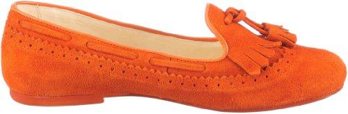 Jonny's Janette J-17081, Damen Ballerinas aus Velourleder Orange (naranja)
