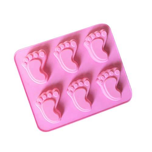 KiyomiQvQ Backform Fuß Muster Cake Silikonform Eiscreme Pralinen Gebäck Art Pan Backformen Dekorieren von Werkzeugen 3D DIY Füße Baby für Fondant, Cake Design, Dekoration Kuchenteig - Füße Silikonform