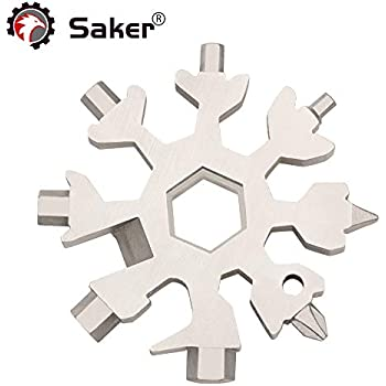 congchuaty 18-in-1 Snowflake Multi Tool Stainless Steel Snowflake Wrench