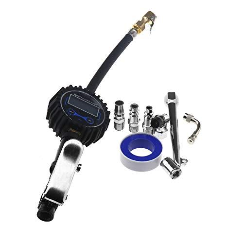 OTOTEC, manometro Digitale per Pneumatici Auto, Display LCD ad Alta precisione, Pistola di gonfiaggio Pneumatici 0-200 psi