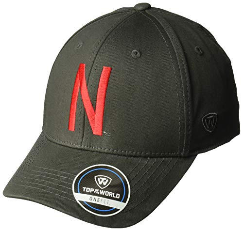 ren Mütze NCAA Fitted Charcoal Icon, Herren, NCAA Men's Fitted Hat Relaxed Fit Charcoal Icon, Nebraska Cornhuskers Charcoal, Einstellbar ()