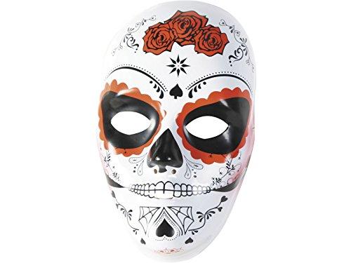 39b7aac4994f Rubie s - Mascara calavera Katrina con rosas Día de los Muertos
