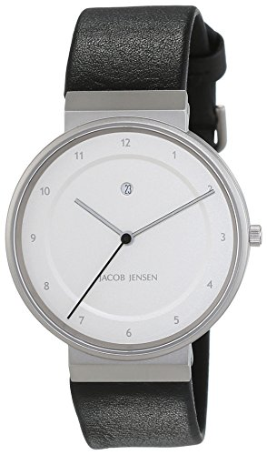 JACOB JENSEN Herren-Armbanduhr Dimension Analog Quarz Leder 861