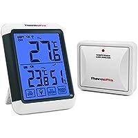 ThermoPro TP65S Thermo-hygromètre Numérique, Jauge de Température Intérieure et Extérieure, Moniteur D'humidité Intérieure, 60M à Distance