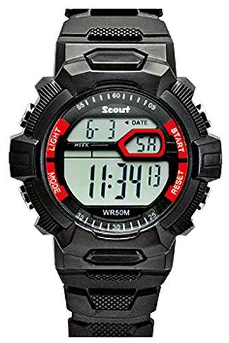 SCOUT Unisex Kinder Digital Uhr mit Plastik Armband 280308000