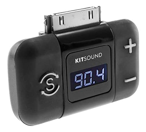 KitSound In-Car FM Radio Transmitter with 30-Pin Connection for iPhone 3/3G/3GS/4/4S, iPad 2/3, iPod Touch 4th Generation and iPod Nano 6th Generation -