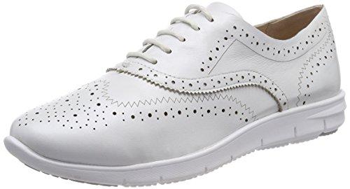 Caprice Damen 23501 Brogues Weiß (White Perlato 139)