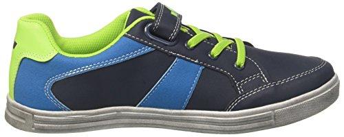 GEKA Herren Club Vs Sneaker Blau (Marine/Blau/Lemon)