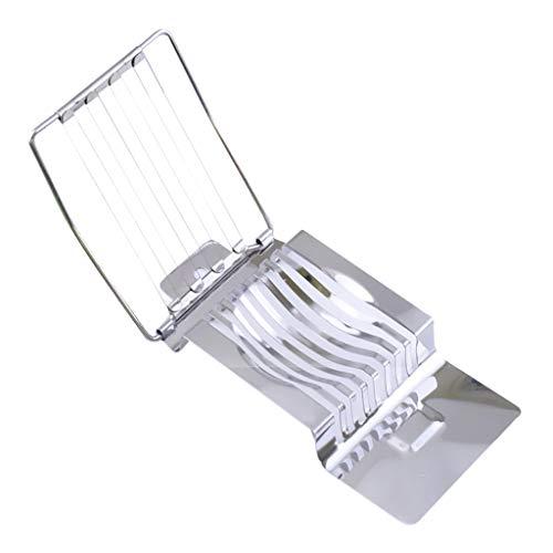 Rostfreier Stahl Eierschneider Lust Ei Konserviertes Slicer Schinken Splitter Küche Gekocht Sektion Cutter Tomate Pilz Werkzeuge (Metall-ei-chopper)