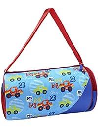 Shopaholic Big Car Design Duffle Bags For Kids/Teenagers-Blue