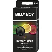 Preisvergleich für Billy Boy Kondome Mix-Sortiment aus farbigen, extra fruchtigen und perlgenoppten Kondomen, 24-Stück