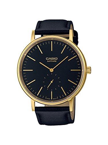Casio Reloj Analogico para Unisex de Cuarzo con Correa en Cuero LTP-E148GL-1AEF