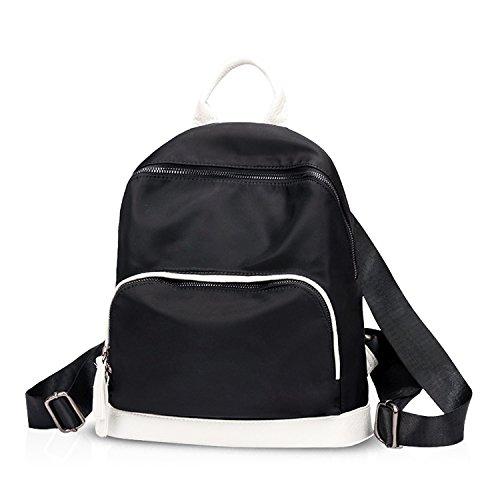 NICOLE&DORIS 2017 borse da zaino delle donne del sacchetto di spalla di corsa della scuola di modo Daypack Satchel Girls zaino Nylon impermeabile Bianca Bianca