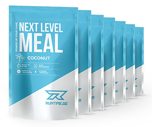 Meal Replacement Shake | Vitamins, protein, minerals and fibre | Vital BCAA amino acids | Runtime® | Next Level Meal 7x150g |Coconut