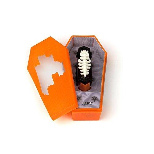 zer oder oranger Sarg (Roboter-zombie-halloween)
