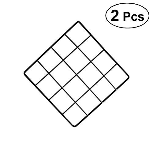 LIOOBO 2 stücke Draht Wand Grid Panel multifunktions Foto hängen Display und Wand speicherorganisator (Schwarz) -