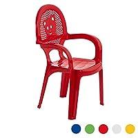 Resol Mini Kids Garden Chair - Plastic Outdoor Play Bedroom Children