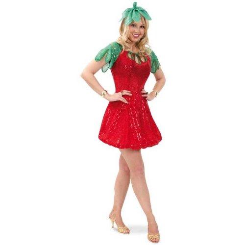 Erdbeere Kostüm Kleid - FRIES NEU Damen-Kostüm Erdbeere, Kleid mit