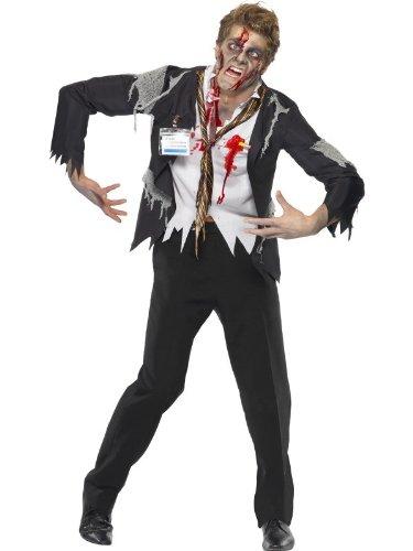 erren Büro Zombie Kostüm Halloweenkostüm Herrenkostüm Halloween Gr. 48/50 (M), 52/54 (L), Größe:M (Büro Zombie Kostüm)