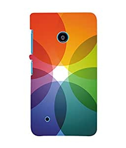 Fuson 3D Printed Coloured Pattern Designer Back Case Cover for Nokia Lumia 530 - D963