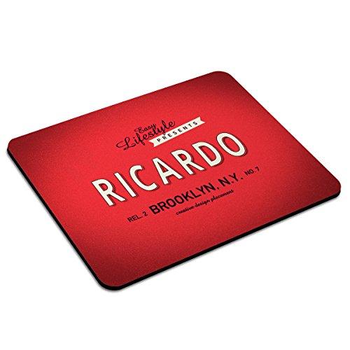 Mousepad mit Namen Ricardo personalisiert - Motiv Retro 1 - Namensmousepad, personalisiertes Mauspad, Gaming-Pad, Maus-Unterlage, Mausmatte