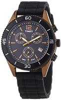 Timex Modern Originals Sport Chronograph T2N829 - Reloj cronógrafo de cuarzo unisex, correa de silicona color negro (luz, cronómetro) de Timex