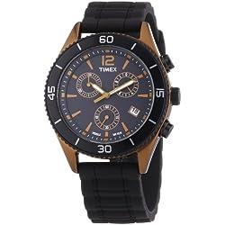 Timex Modern Originals Sport Chronograph T2N829 - Reloj cronógrafo de cuarzo unisex, correa de silicona color negro (luz, cronómetro)