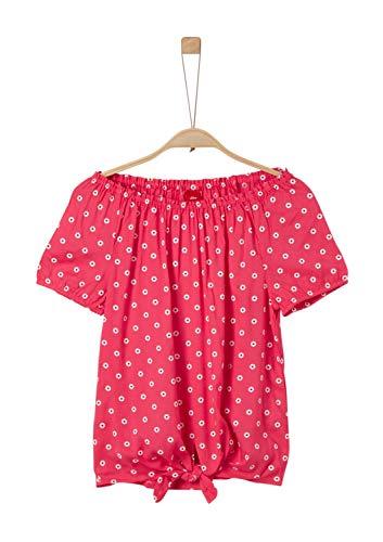 s.Oliver Mädchen 73.904.12.2469 Bluse, Rosa (Pink AOP 45a1), 164 (Herstellergröße: L/REG)