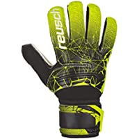 REUSCH INTERNATIONAL SPA SD Guanti da Portiere da Adulto, Unisex, Nero/Verde Lime, 7,5