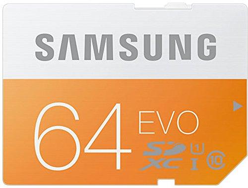 Samsung Speicherkarte SDXC 64GB GB EVO UHS-I Grade 1 Class 10 für Foto und Video Kameras (bis zu 48MB/s Transfergeschwindigkeit), frustfrei