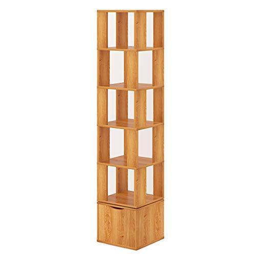 WYNZYSLJ Moderner minimalistischer 360 ° Drehbarer Bücherregal Einfacher Bücherregal Kreativer...