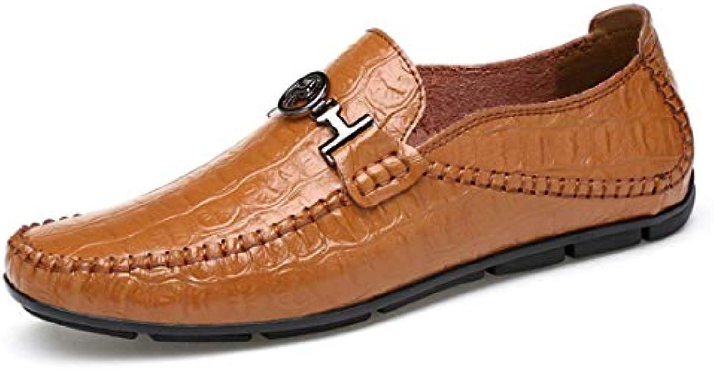 ZHRUI Boy's Snake Metals Snap Marronee Casual Casual Casual Loafers UK 5 (Coloreee   -, Dimensione   -)   Apparenza Estetica  55c875